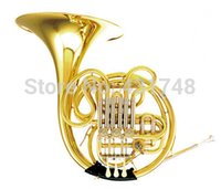 Wholesale F Bb Double Row French Horn Flats Copper Material With ABS case Musical instruments