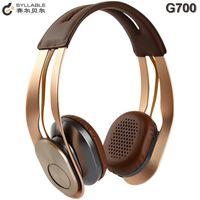 Cheap 1pcs 100% Original Syllable G700 Wireless Music Headphones NFC Bluetooth 4.0 Hi-Fi Headphones Headsets PK Marshall Major