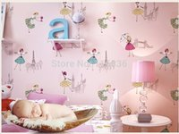 ballerina wall mural - High Quality Mural wallpaper modern ballerina dance girl wall paper decor kids room papel de parede tapete bedroom x1000cm
