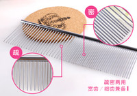 beauty nail table - pet comb Stainless steel semi dilute and semi dense fashion poodle and cat special comb Pet hair removal and beauty cleaning
