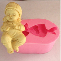 angle biscuits - baby angle fairy shape Silicone D Mold Cookware x4x3cm Non Stick Cake Decor Fondant biscuit Mold soap chocolate Mold A221