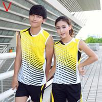 Wholesale Sleeveless Badminton Set Shirts Shorts Quick Dry Badminton Racing Suit Badminton Sportwears VS01