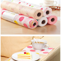 Wholesale 300X30CM Polka Dots Shelf Contact Paper Cabinet Drawer Liner Kitchen Table Mat