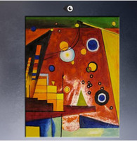 Wholesale Framed Heavy Red By WASSILY KANDINSKY High Quality Genuine Handmade Home Wall Decor Abstract Art oil Painting On Canvas customized size