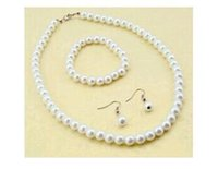 acts bracelet - Manufacturers bride deserve to act the role of imitation pearl handmade beaded necklace bracelet earrings suit three piece suit