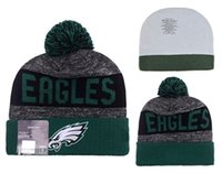 Wholesale EAGLES Football Beanies Team Hat Winter Caps Popular Beanie Caps Skull Caps Best Quality Women Men Sports Caps Allow Mix Order