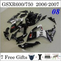 Precio de Suzuki gsxr750 fairing-West Motorcyce carenado Fit Kit Suzuki GSXR600 GSXR GSXR750 600 750 2006 2007 06 07 Pintura Negro Blanco Custom Cuerpo Conjunto Carenado plástico ABS