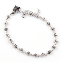 bead anklet designs - New Design Women Silver Bead Chain Anklet Ankle Bracelet Barefoot Sandal Beach Foot