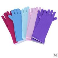 Wholesale 100pairs CCA2175 Hot Colors Cartoon Girls Long Gloves Elsa Princess Finger Gloves Girls Fancy Gloves Christmas Birthday Children Gift