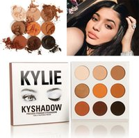 Wholesale Kylie Jenner Kyshadow eyeshadow palette matte Pressed Powder Bronze Kit Eye shadow Palettes Natural Brighten Makeup Colors with card
