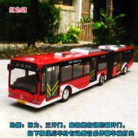 articulate bus - 1 extended double festival bus alloy models articulated bus back to light bus model