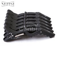 Wholesale New Blue Matte Sectioning Clips Clamps Hairdressing Salon Hair Grip Crocodile Snap Clips For Hair Extensions Pro Hair Curl Care Styling