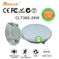 microwaves - Modern surface mounted round W Led ceiling lights Microwave sensor W Emergency Ø360 mm led ceiling years warranty