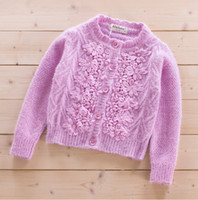 Wholesale 2016 children clothing sweater baby cardigan kids sweaters children up clothing girls knitted sweater cotton clothing mohair wool line A006