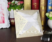 Wholesale Wedding Invitations Cards Elegant wedding invitation laser cutting lace wedding invitation card hollow invitation cards B142