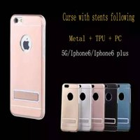 Wholesale IPHONE5 S S S Plus curse with stents following from metal TPU PC fashion colours