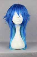 Wholesale Promotion Dramatical Murder Dmmd Seragakiaoba cm Long Blue Ombre Cosplay Party Wig party glove