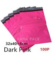 [Paquete de Kana] - Color de rosa oscuro 32x40cm + 4cm /12.6x15.7inches+1.57inches el labio Co-extrusionó el sello del uno mismo-capa del color Multi bolsos del mailer del polaco acolchó el sobre