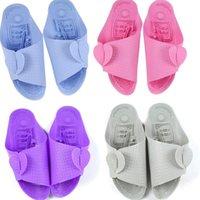 adjustable slippers - Unisex Adjustable Massage Slippers Plane Shaped Non Skid Sandals Flip Flops Home Indoor Bathroom Antiskid Slippers Sandals Color LJJP127