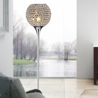Wholesale Modern Crystal Floor Lamp suppore LED E27 Sconce crystal lamps foyer lamps shade Home Decor Luminaire FRFL study room light