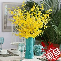 fall decorations - Selling hot artificial flowers Phalaenopsis Oncidium exports fall wedding decoration artificial flower silk flower CM