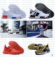 best outdoor fabric - Best Men NMD Runner Primeknit High Quality Running Shoes with Box NMD Boost Basketball Shoes Breathable Sneaker Outdoor Shoes for Women