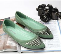 apartment small - 2016 Europe and The United States New Fashion Matte Sequins Small Pointed Flat Shoes Women s Shoes Large size apartment