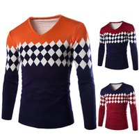 argyle sweaters for men - new foreign men for fall winter sweater v neck classic Argyle pattern