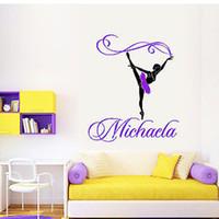 ballet wallpapers - Custom Made Name Ballet Dance Wall Stickers Girls Wall Decals Wallpaper Art for Kids Bedroom WS420