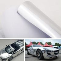 Wholesale 152 cm Chrome Mirror Silver Vinyl Wrap Car Sticker Decal Film Sheet Self adhesive Air Bubble Body Decoration Car Styling