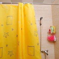 Wholesale Super Deal Bathroom Accessories Waterproof Polyester Shower Bath Curtain Modern Simple Curtain cortinas de bano XT