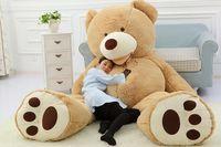 achat en gros de gros gros ours en peluche-200CM 78''inch gigantesque peluche ours en peluche grand gros grosse peluche marron peluche douce jouet enfant enfant poupée fille cadeau de noel