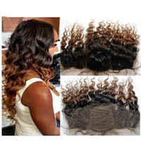 Cheap ombre silk base frontal Best two tone silk top frontals