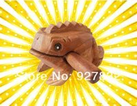 Wholesale Hot sale Wooden musical frog Thailand wooden lucky frog Wooden croak frog Hot sale in the market popular