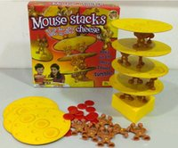 balance board toy - Mouse stacks cheese board game Mouse pile of cheese up go the mice slice by slice balance puzzle toys