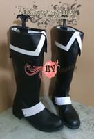 allen walker boots - D Gray man Allen Walker black white Cosplay Boots shoes shoe boot NC343 anime Halloween Christmas
