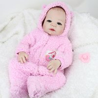 Cheap 22Inch Full Silicone Reborn Baby Girl Lifelike Interactive Full Body Silicone Reborn Doll Girls Toys Birthday Gift For Children