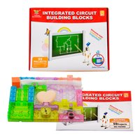 Wholesale 2016 Educational Toys For Children Physics Science Toys Snap Integrated Circuit Building Block Set Electronic Bricks Kids Toys Gift Items