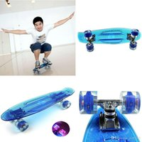 Wholesale EC FC01 Street Skateboard Transparent Longboard Colorful Flashing Wheel Cruiser Skate Board For Men Women kg Max Loading