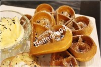 Wholesale Adorable flower shape waffle maker Commercial water drop shape waffle machine for sell