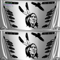 auto body design - American Indian Set Of Stickers Perfect For x4 SUV Car Wall Sticker Creative Body Car Stickers PVC Car Auto Decals