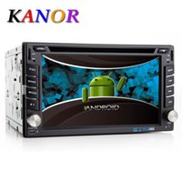 Wholesale Double Din Android Quad Core Universal Car DVD Player Capacitive GPS Navigation Audio WIFi Bluetooth