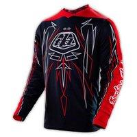 Wholesale hot sale Troy Lee Designs TLD GP Racewear Jersey PINSTRIPE BLACK MTB Mountain Bike T shirt Downhill Moto Jers