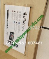 Wholesale Pack units A4 Wall Mounted Acrylic Floating Poster Frames For poster graphics and signage