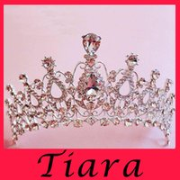 accessories for birthday - New Wedding Crown Princess Clear Rhinestone Tiara Crown Hair Combs For Girl Women Prom Event Birthday Accessories Customized silvery