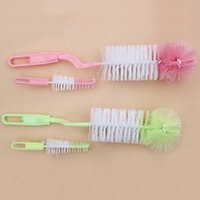 Hot Sale Bottle Newborn Nipple Brush bébé Lait Allaitement au biberon Pinceaux Infant 360 degrés de rotation Wash Bottle Brush aléatoire VT0251