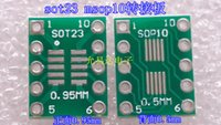 Wholesale keysets SOT23 MSOP10 to DIP Transfer Board DIP Pin Board Pitch Adapter