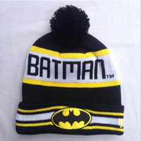 Wholesale Men Head Hat Hip Hop Unisex Batman Superman Street Skateboarding Beanie Mans Women Girls Autumn Winter Knit Cotton Wool Hats Snapback Caps