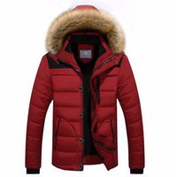 Wholesale New winter cotton coat of fur collar hooded casual coat male hair thickening warm jacket coat