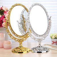 bathroom tables - Compact Mirror makeup cosmetic table bathroom mirror on foot stand